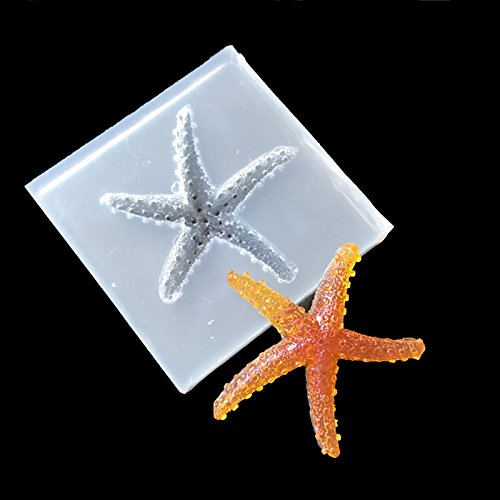 SEPTEMBER Jewelry Beading Casting Mold, DIY Handmade Silicone Mold, Clear Mold For Resin, Crystal, Square, Starfish Gift
