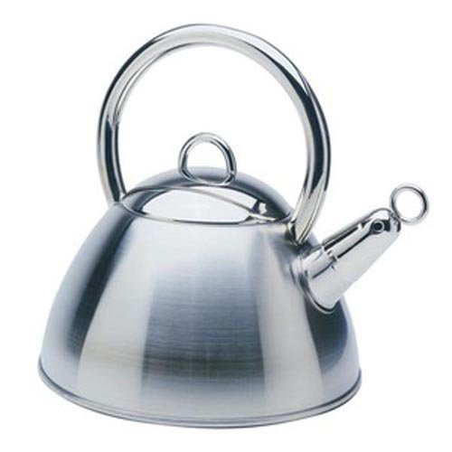 Norpro 2.6 Quart Whistling Teakettle, Mirrored Stainless