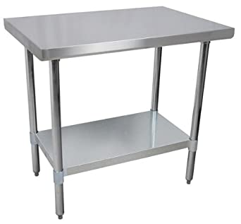 amazon com commercial stainless steel work prep table 24 x 30 nsf rh amazon com stainless steel work tables islands stainless steel work table with sink