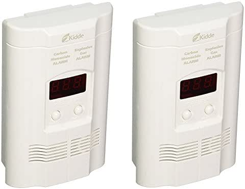 Kidde KN-COEG-3 Nighthawk Plug-In Carbon Monoxide and Explosive Gas Alarm with Battery Backup (Pack of 2)