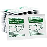 Pre-Moistened Lens Cleaning Wipes Kit (100 units) For Use As Glasses Cleaner Wipes Or Eyeglass Cleaning - Very Easy To Use
