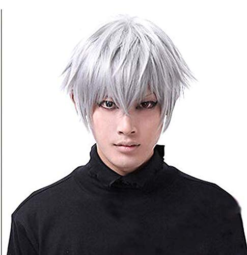 Nicedeal Tokyo Ghouls Ken Kaneki Cosplay Wig Mens Short Halloween Party WigsFor Hair Beauty and Hair deco]()