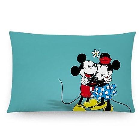 Amazon.com: Custom Disney Mickey Mouse Funda de almohada ...