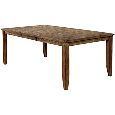 HOMES Inside Out IDF 3287T Prata Dining Table Light Walnut Transitional