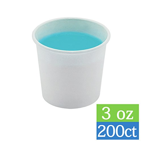 TashiBox 3oz Bathroom Cups 3oz-200 Count, Small Paper, White
