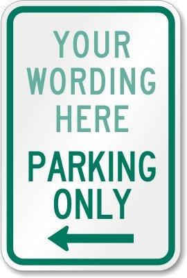 texto personalizado] solo aparcamiento (flecha izquierda ...