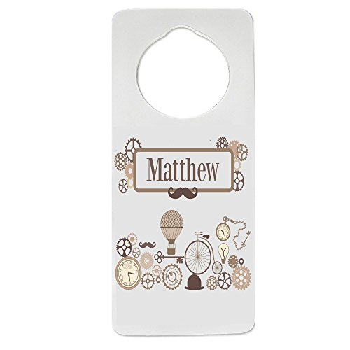 Personalized Steampunk Nursery Door Hanger by MyBambino