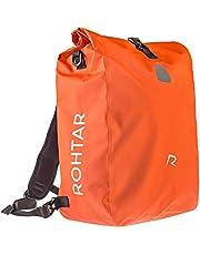 Rohtar Waterdichte fietstas - 18L of 25L 3-in-1 schoudertas, rugzak, fietstas reisbagagedrager - Mountainbike-rugzak - verstelbare riemen, stuurklemmen, verborgen ritssluitingen