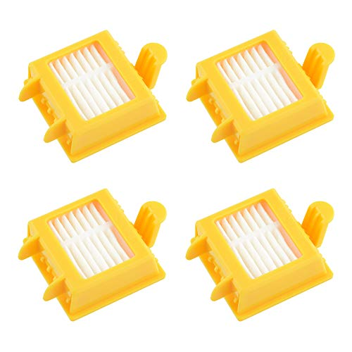 MIRTUX Kit 4 filtros para Roomba 700. Pack de repuestos de Filtro Serie 7. Recambio de reemplazo con Cuatro filtros 720, 730, 750, 760, 765, 770, 772, 776, 780, 785, 790