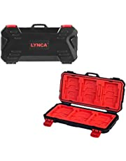 LYNCA Memory Card Hard Protector Case Holder, TF/SD/Micro SD/XQD/CF Storage Box Protector Cover Case Waterproof Carrying Case Large