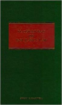 Book MacGillivray on Insurance Law