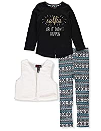 Dream Star Girls' 3-Piece Leggings Set Outfit