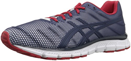 ASICS Men's JB Elite TR Cross-Trainer Shoe, White/Dark Navy/True Red, 8.5 M US