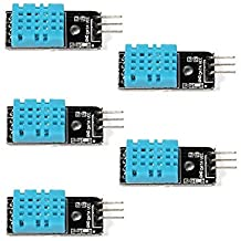 Roy Temperature and Humidity Sensor Module, DHT11 for Arduino Raspberry Pi 2 3, 5 Packs with Dupont Line