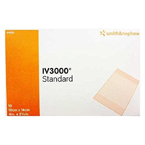 Iv 3000 Dressing - Opsite IV 3000 Dressing 4 x 5.5 Inch Box of 10
