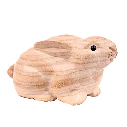 Rabbit Zodiac Chinese - LINGS Chinese Zodiac Statues Wooden Guardian,Feng Shui Decor,for Home and Office Attract Wealth and Good Luck,Best Housewarming Congratulatory Gift,Rabbit