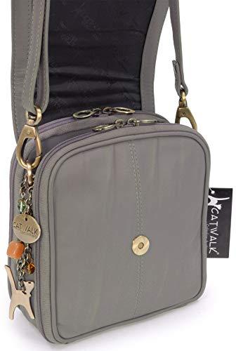 femme Gris à musette Sac pour main sacs de Catwalk Collection q6zR8SUwW