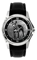 TWK Women's Pit Bull Terrier Dog Watch Quartz White Dial Watch