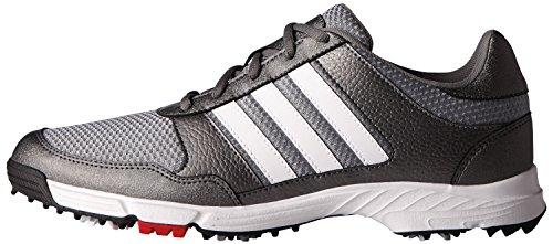 adidas Men's Tech Response Golf Shoe, Iron Metallic/White, 12 M US