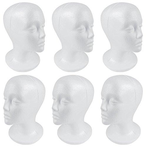 SHANY Cosmetics Styrofoam Model Heads/Hat Wig Foam Mannequin, 6 Count
