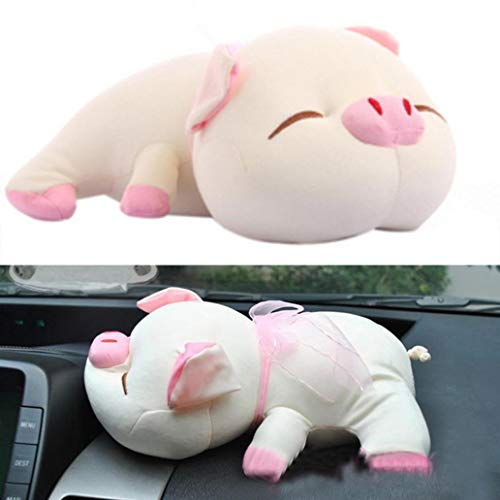 Misszhang-US Cartoon Pig Car Activated Carbon Bamboo Charcoal Bag Smelly Removing Deodorant - Beige