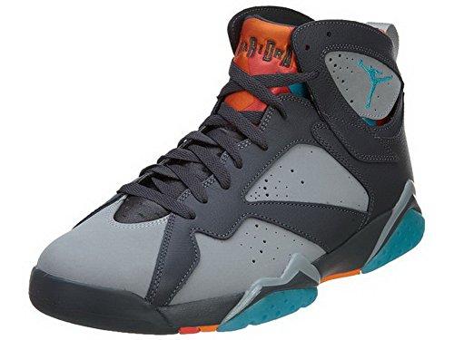 best sneakers 53a20 d4e94 AIR JORDAN 7 RETRO BARCELONA HERREN SNEAKERS 304775-016 Grau   Türkis  Blau-Orange