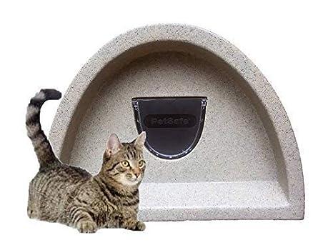 Primavera Oferta £ 48.99- Refugio de gatos para exteriores/Cat Caseta con solapa (