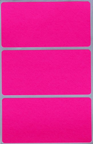 Write Name Badge Labels in Neon Pink - Home Moving Label in Bright Stickers 4