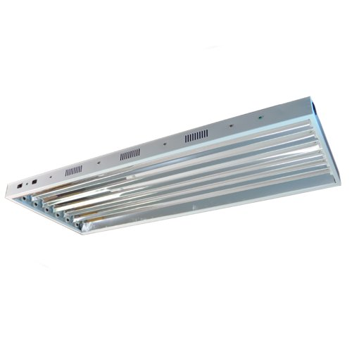 Standard T5 HO 4 Foot 6 Bulb Fixture without Bulbs
