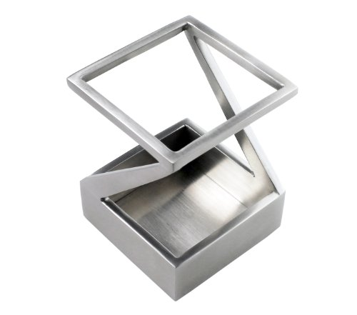 ArtsOnDesk Modern Art Pen and Pencil Holder St203 Stainless Steel Satin Finish Patented - High-end Deck Accessory Desktop Pen Case Cup Tray Stand Office Organizer Christmas Valentines ()
