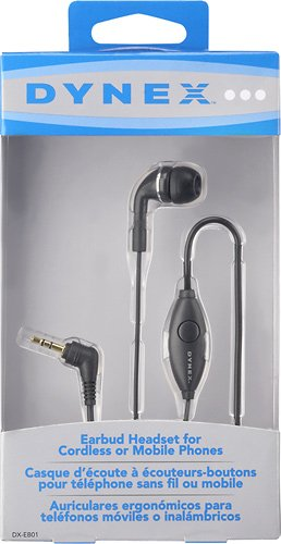 Amazon.com: Dynex Earbud Cell Phone Headset with 2.5mm headphone jack: Cell Phones & Accessories
