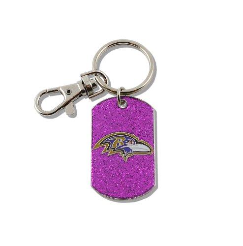 aminco NFL Baltimore Ravens Glitter Key Ring