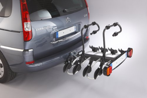 Mottez Premium Deck A018P4RA Bicycle Rack for Towing Hitch 4 Bicycles