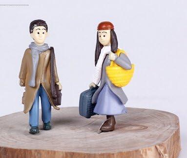 LU2000 Petites Personnes Figurines Minifigures Minuscules pour Micro Paysage Bonsa/ï Bureau D/écoration Petite Statue Mini Sculpture