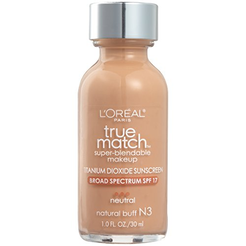 L'Oreal Paris Makeup True Match Super-Blendable Liquid Foundation, Natural Buff N3, 1 fl. oz.