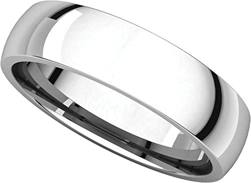Mens Platinum, Light Comfort Fit Wedding Band 5MM (sz 8.5) Comfort Fit Platinum Wedding Ring