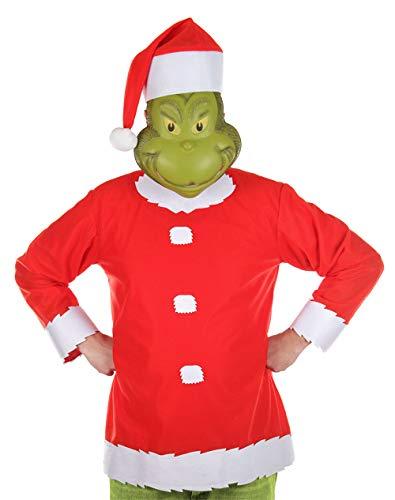 Community Tv Show Halloween Costume (elope Dr. Seuss The Grinch Santa Costume Mens L/XL)