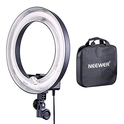 (Neewer Camera Photo Video 14 inches/36 centimeters Outer 10 inches/25 centimeters Inner Ring Fluorescent Flash Light for Portrait,Photography and YouTube Vine Video Shooting,50W(400W Equivalent) 5500K)