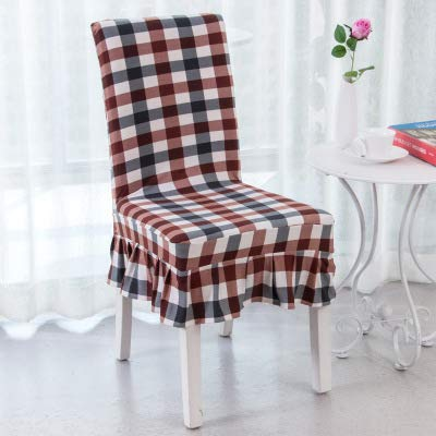 T-CYYT 2 Pieces Elastic Piece seat Cover Stool Package Chair Cover Hotel Back Chair Cover Fabric, Lattice Control ()