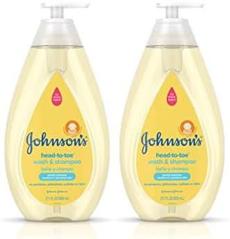 Johnson's Head-to-Toe Hypoallergenic & Paraben-Free Baby Wash & Shampoo Twin Pack, 2 x 27.1 fl. oz