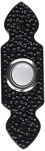Heath Zenith SL-829-02 Traditional Décor Series Wired Lighted Antique-Design Push Button, Black 829 Series