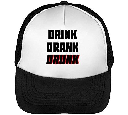 Gorras Beisbol Drank Drink Drunk Negro Slogan Snapback Blanco Funny Hombre qx7nI1wPp0