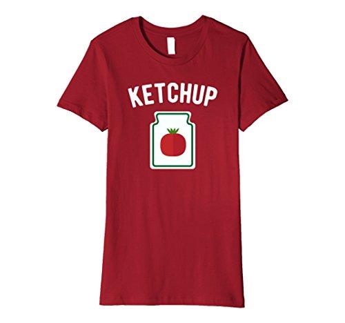 Womens Tomato Ketchup Bottle - Funny Halloween Costume T-Shirt Medium (Funny Original Couple Halloween Costumes)