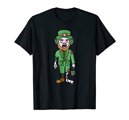 Scary Leprechaun Costumes - Zombie Shirt Leprechaun Halloween Costume Dead
