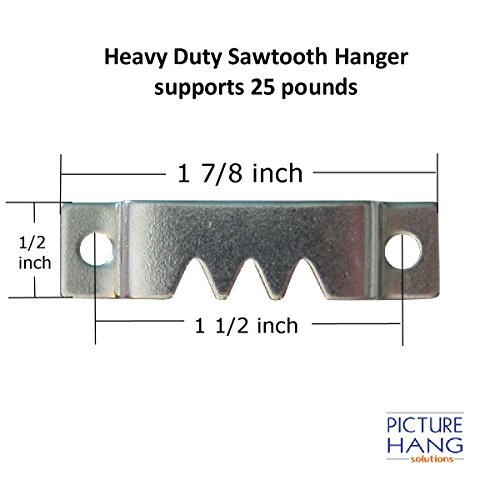 Heavy Picture Hangers Heavy Sawtooth Hangers With Screws 50 Pack