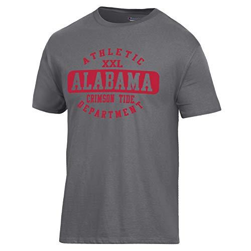 Champion NCAA Alabama Crimson Tide Men's Ringspun Short Sleeve T-Shirt, Granite Heather, X-Large