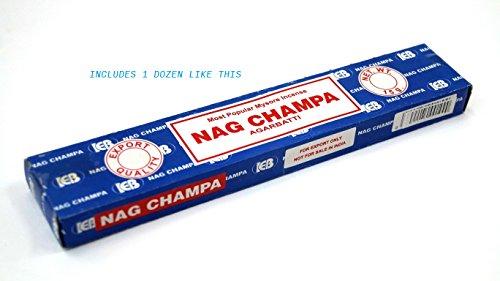 SATYA SAI BABA NAGCHAMPA Satya Sai Baba Nag Champa Agarbatti, 250 G - incensecentral.us