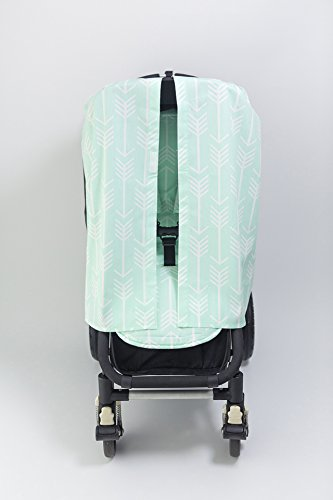 Bambella Designs Stroller Privacy Curtain - Mint Arrows by BayB Brand