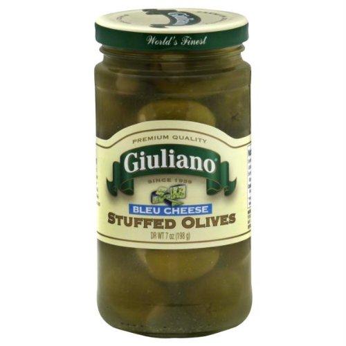 Giulianos Bleu Cheese Stuffed Olive, 7 Ounce - 6 per case.
