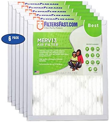 24 Actual Size Pleated 13 6 Pack
